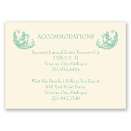 Posh Flourish - Ecru - Accommodations Card