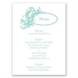 Posh Flourish - Menu Card