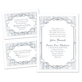 classy country 3 for 1 invitation - Cheap Wedding Invitations Sets