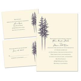 Plum Wedding Invitations: 