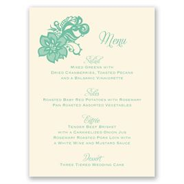 Lacy Details - Ecru - Menu Card