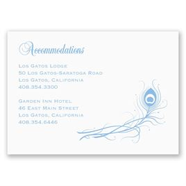 Framed in Feathers - Accommodations Card