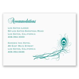 Peacock: Framed in Feathers - Accommodations Card