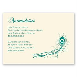 Framed in Feathers - Ecru - Accommodations Card