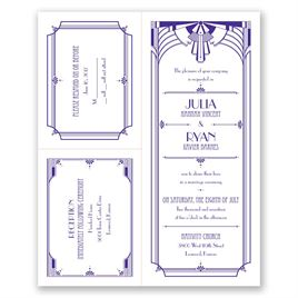 Art Deco Arch - 3 for 1 Invitation