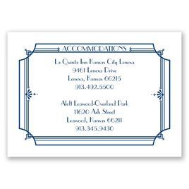 Art Deco Arch - Accommodations Card