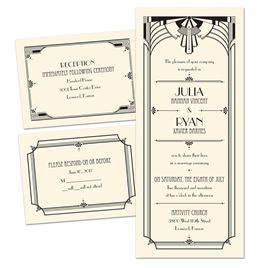 3 for 1 wedding invitations invitations by dawn art deco arch 3 for 1 invitation filmwisefo Choice Image