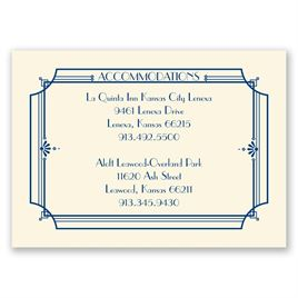 Art Deco Arch Accommodations Card