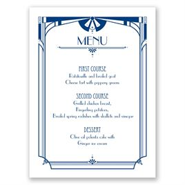 Art Deco Arch - Menu Card