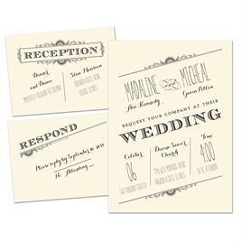 new perspective 3 for 1 invitation - Cheap Wedding Invitations Sets
