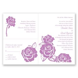 Lavish Rose - 3 for 1 Invitation