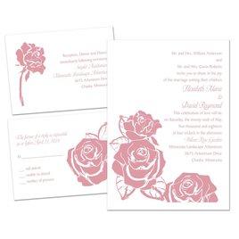 Lavish Rose - 3 for 1 Invitation