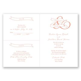 Modern Monogram - 3 for 1 Invitation
