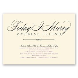 Calligraphy Wedding Invitations: 