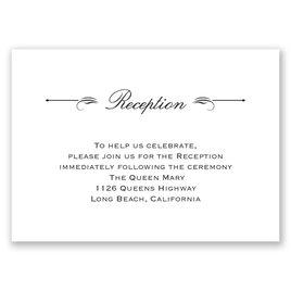 Love & Friendship - Reception Card