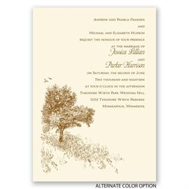 Hillside Getaway - Ecru - Invitation