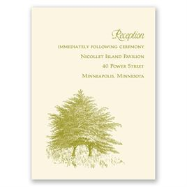 Hillside Getaway - Ecru - Reception Card