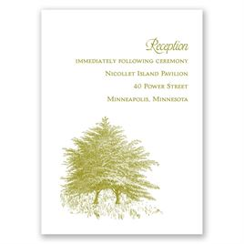 Hillside Getaway - Reception Card