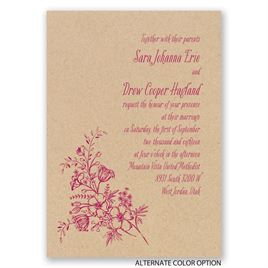 Charming Wildflowers - Kraft - Invitation