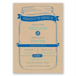 Mason Jar Wedding Invitations: 