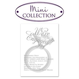 """Engagement Party Invitations: Rockin"""" Party Mini Engagement Party Invitation"""
