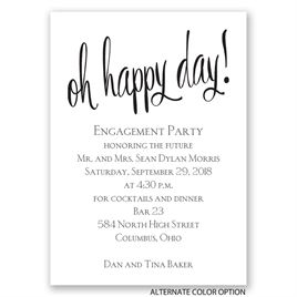 Oh Happy Day - Mini Engagement Party Invitation