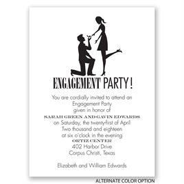On Bended Knee - Petite Engagement Party Invitation
