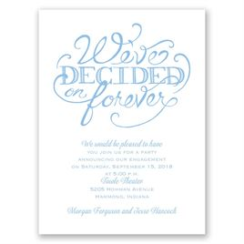 Big Decision - Petite Engagement Party Invitation