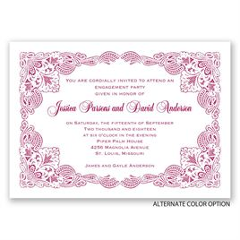 Elaborate Lace - Engagement Party Invitation