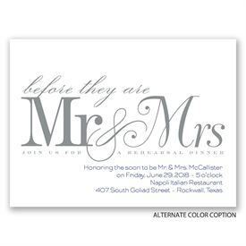 Before Mr. & Mrs. - Petite Rehearsal Dinner Invitation