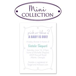 Baby Shower Invitations: Pink or Blue Mini Baby Shower Invitation