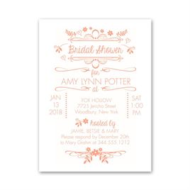 Wedding Whimsy - Petite Bridal Shower Invitation
