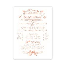 Bridal Shower Invitations: Wedding Whimsy Petite Bridal Shower Invitation