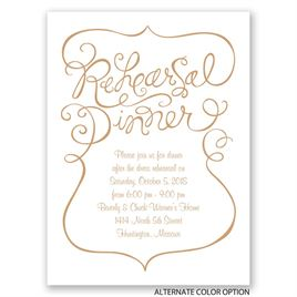 Quirky Calligraphy - Petite Rehearsal Dinner Invitation