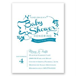 Baby Shower Invitations: Naturally Pretty Petite Baby Shower Invitation