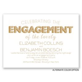 Marquee Magic - Engagement Party Invitation