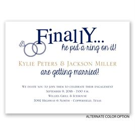 Finally - Petite Engagement Party Invitation