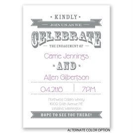Kindly Join Us - Engagement Party Invitation