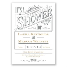Bridal Shower Invitations: Vintage Charm Wedding Shower Invitation