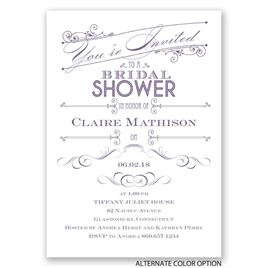 Elegant Intro - Bridal Shower Invitation