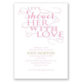 bb8bec1ab29 Bridal Shower Invitations  With Love Bridal Shower Invitation