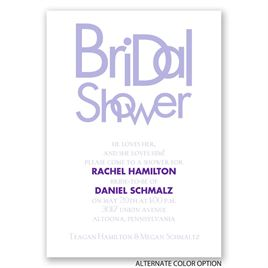 Modern Style - Bridal Shower Invitation