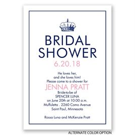 Crowned - Bridal Shower Invitation