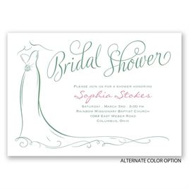 Elegant Bride - Bridal Shower Invitation