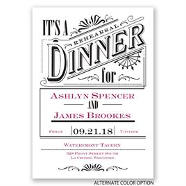 Vintage Charm - Rehearsal Dinner Invitation