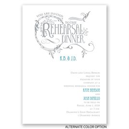 Fabulous Flourish - Rehearsal Dinner Invitation