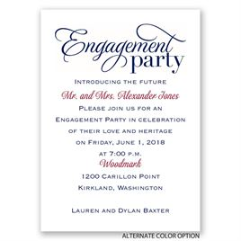 Classic Style - Mini Engagement Party Invitation