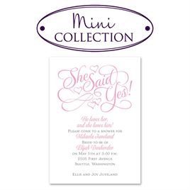 Bridal Shower Invitations: Floating Hearts Mini Bridal Shower Invitation