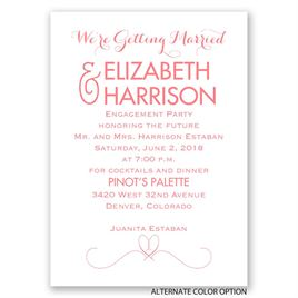 Getting Married - Mini Engagement Party Invitation