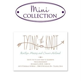 Engagement Party Invitations: Love Knot Mini Engagement Party Invitation
